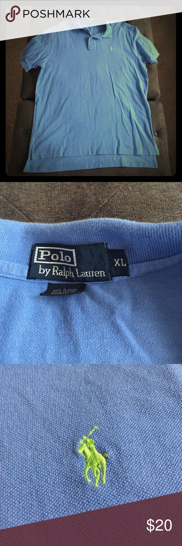 Preloved Men's Short Sleeve Polo! Preloved men's short sleeve light blue polo. In excellent condition with no signs of wear. 100% cotton. Machine washable. Polo by Ralph Lauren Shirts Polos
