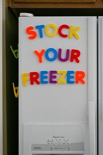 stock your freeze : how to, tips & tricks: Freezer Meals, Freezing Food, Freezer Tips, Freezer Recipes, Freezer Food, Freezer Cooking, Cooking Tips, Stocking Freezer
