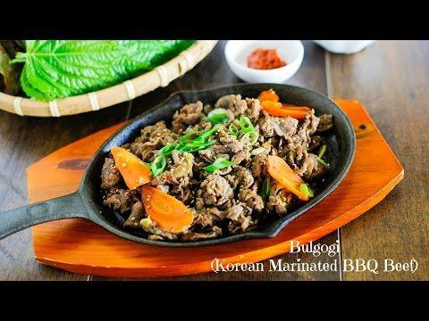 Bulgogi (Korean Marinated BBQ Beef, 불고기) - YouTube