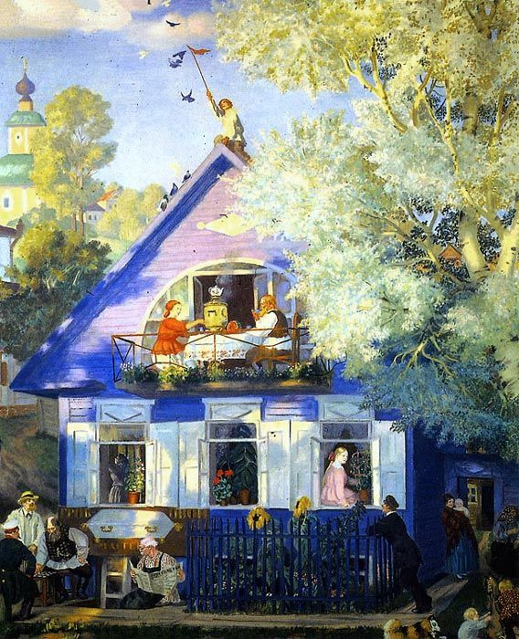Boris Kustodiev - Blue House