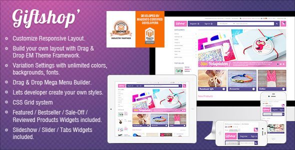 Responsive Magento Theme - Gala Gift Shop - Magento eCommerce