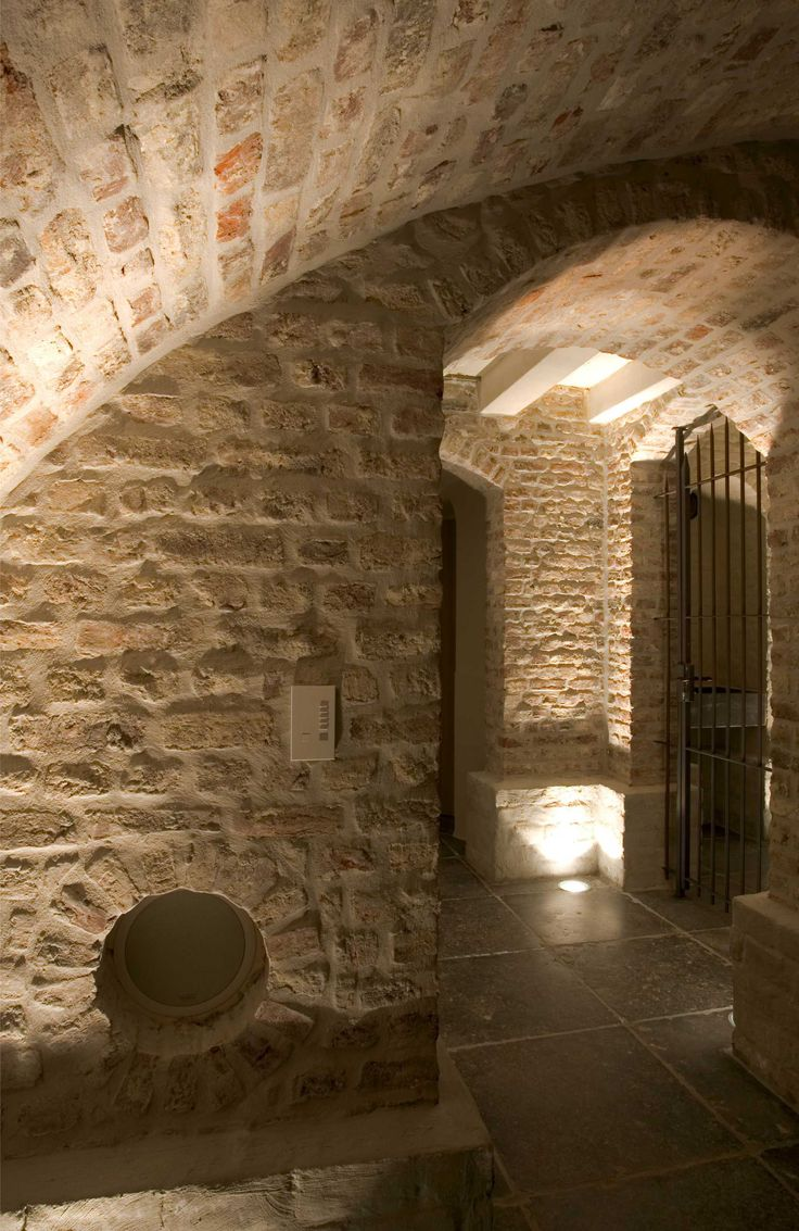 Belgian design wine cellar, up lit