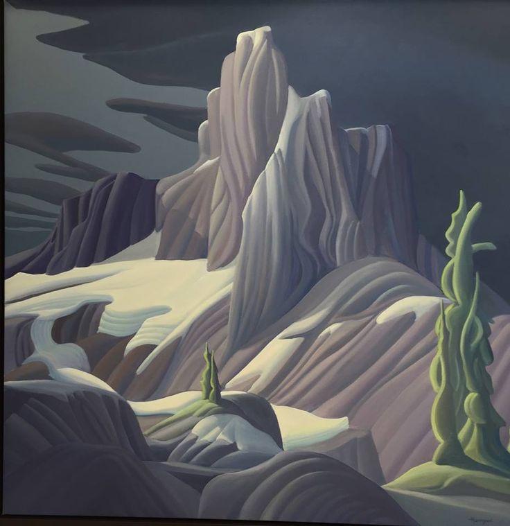 Ken Harrison - Black Tusk Bright Night 48 x 48 Oil on canvas
