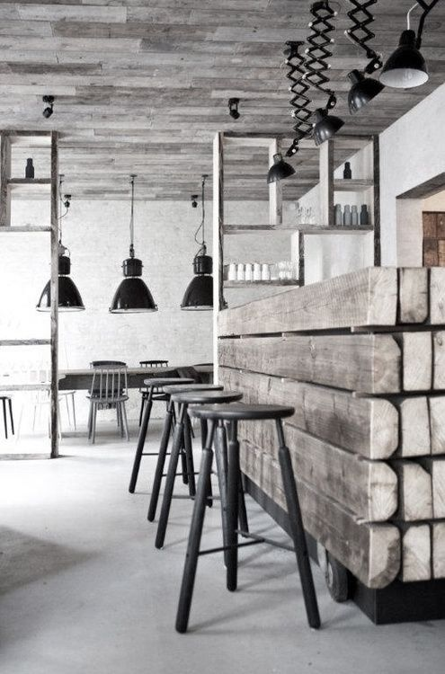 Whitewashing or limewashing wood allows you to make your wood elements fit into a chic black and white scheme while maintaining a beautiful woodgrain.
