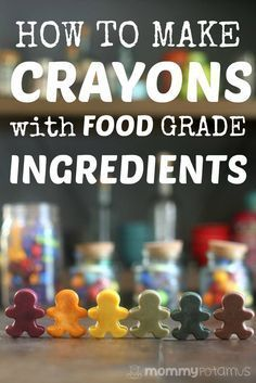 "How To Make Crayons With Food Grade Ingredients - When my toddler started trying to taste test our crayons, I decided to dig a little deeper into the ""non-toxic"" label. Turns out, the Consumer Product Safety Commission has found that crayons can contain up to 2-5ppm lead depending on the pigment used, even when the box is labeled non-toxic. That's less than allowed in toys, but more than is allowed in food, so I decided to create a food-grade version using dried veggie powders and"