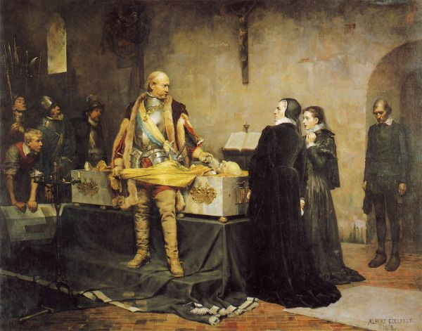 Edelfelt, Albert | Duke Karl Abusing the Corpse of Klaus Fleming / Kaarle-Herttua herjaa Klaus Flemingin Ruumista (1878)