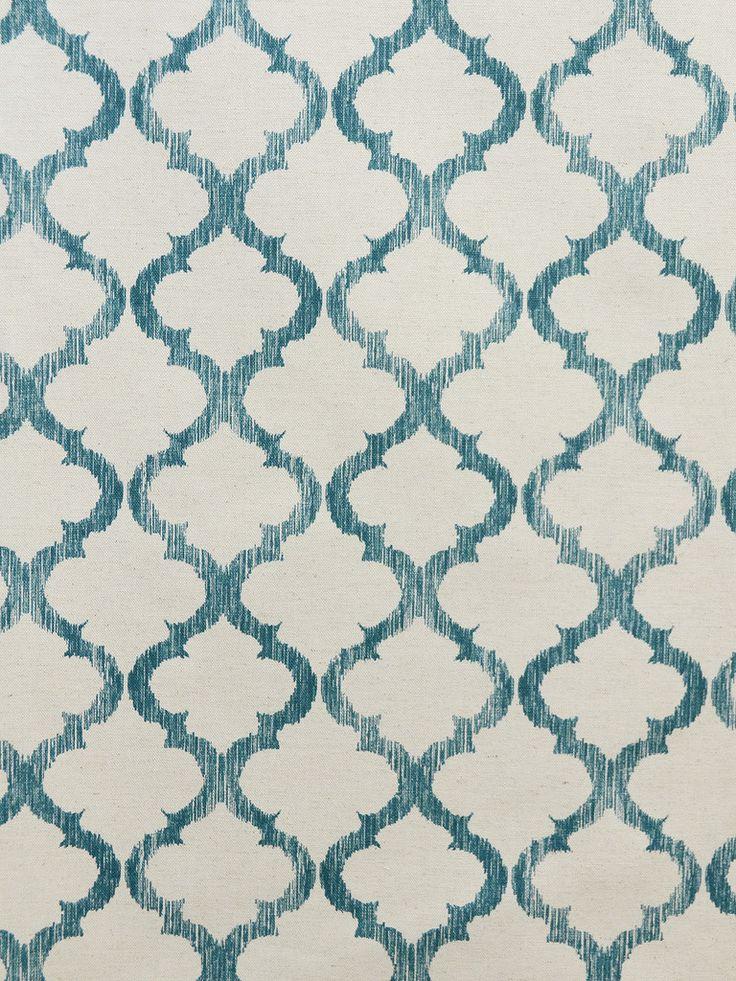 ENHANCE TEAL #blue-turquoise #geometrics #print-fabrics