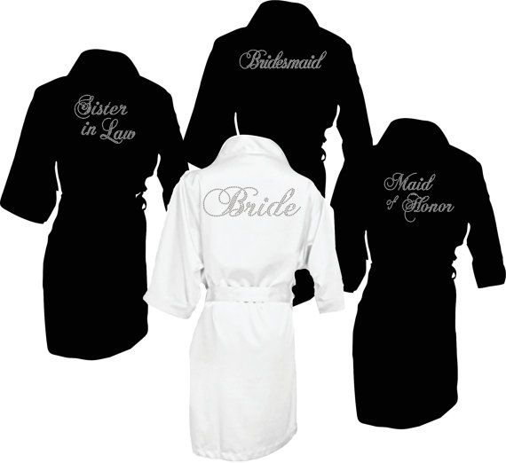 $108 Set of 4- Satin robes, bride robe, bridal robe, bridal party robes,