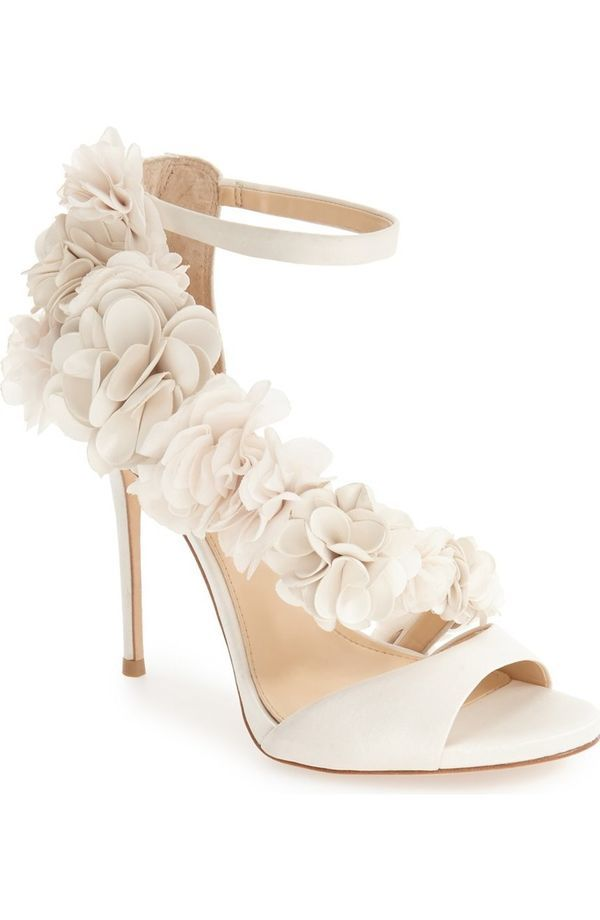 Few things are more magical than a summer garden wedding. No matter your location, bring a bit of that magic to your day with this strappy satin shoe. | Nordstrom wedding shoes
