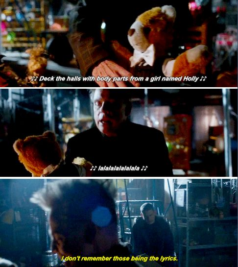 """I don't remember those being the lyrics"" - Captain Cold ((he's sooo done)) and The Trickster #TheFlash"