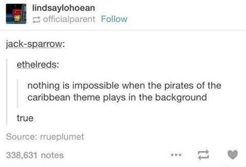 ok so anytime i play outlast and im being chased i always scream/sing the pirates of the caribbean theme