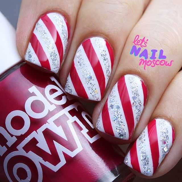 Simple Christmas Nail Art: Best 25+ Simple Christmas Nails Ideas On Pinterest
