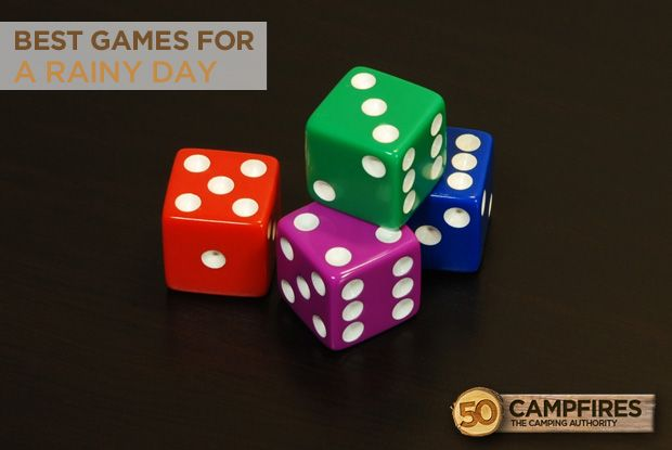 Best Camping Games For A Rainy Day - some great stuff in here! http://50campfires.com/best-camping-games-rainy-day/ #boardgames #games #camping
