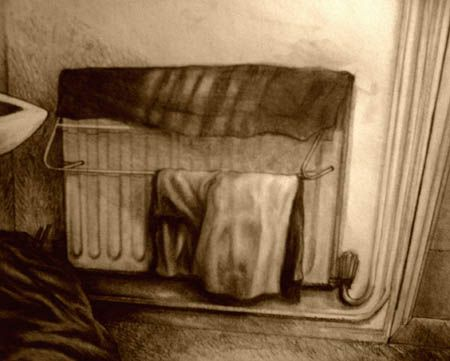 Hung Out to Dry | Pencil and Graphite on Paper | Circa 2006