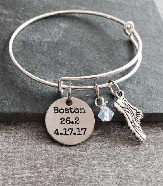 Boston 26.2 Date Boston Marathon Runner's  Running by SAjolie