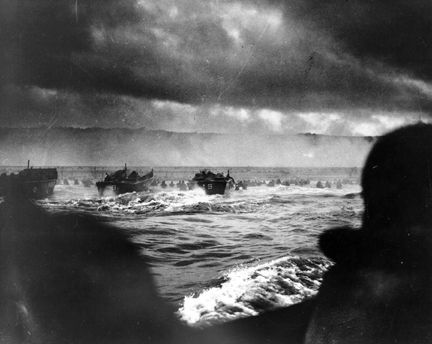 d day landing film footage