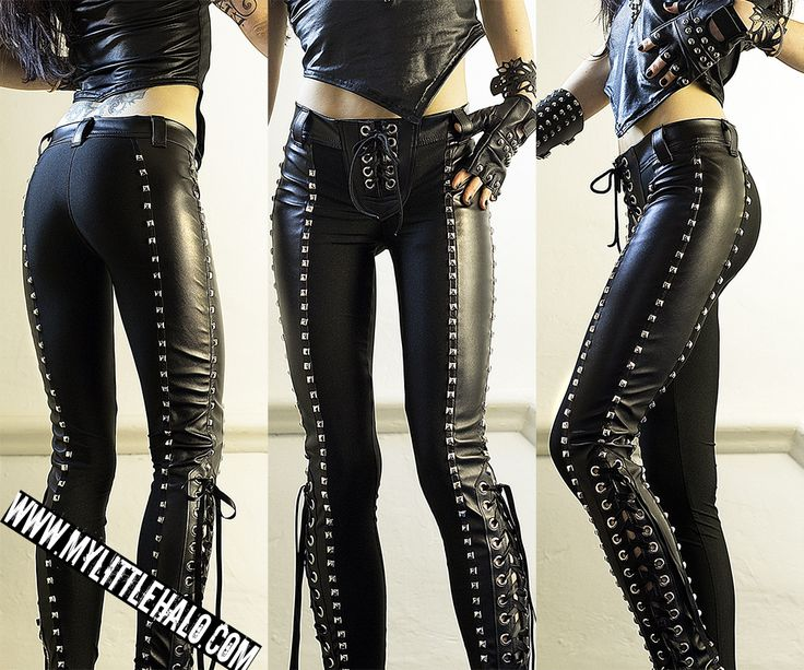 My Little Halo - Leather/Spandex Pyramid Studded Goth Pants http://mylittlehalo.com/