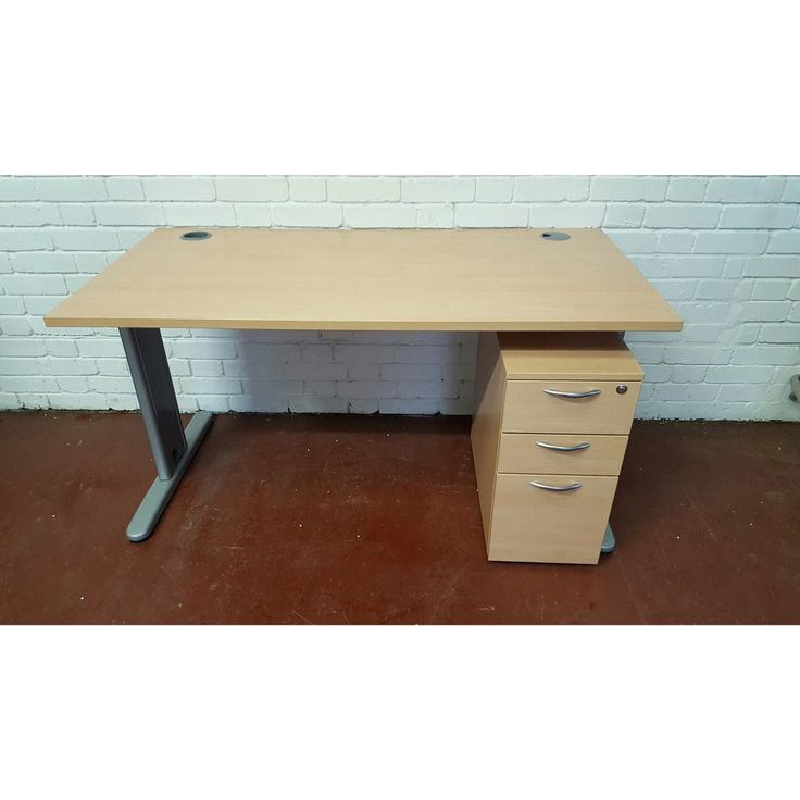 a practical desk u0026 storage combo this second hand beech office mobile pedestal comes in good condition has two stationary drawers one desks with