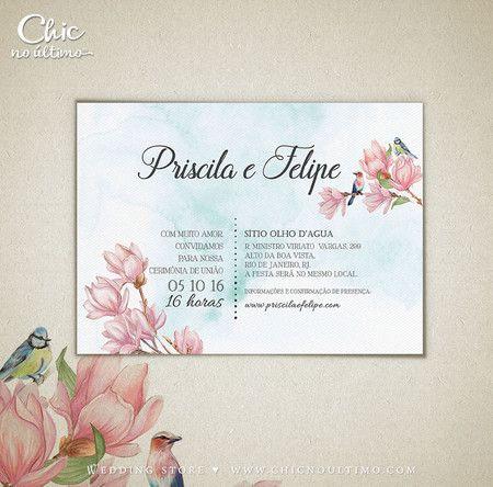 Convite Casamento Carta Lovely