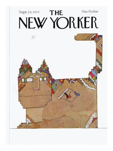 Saul Steinberg New Yorker Cover Cat