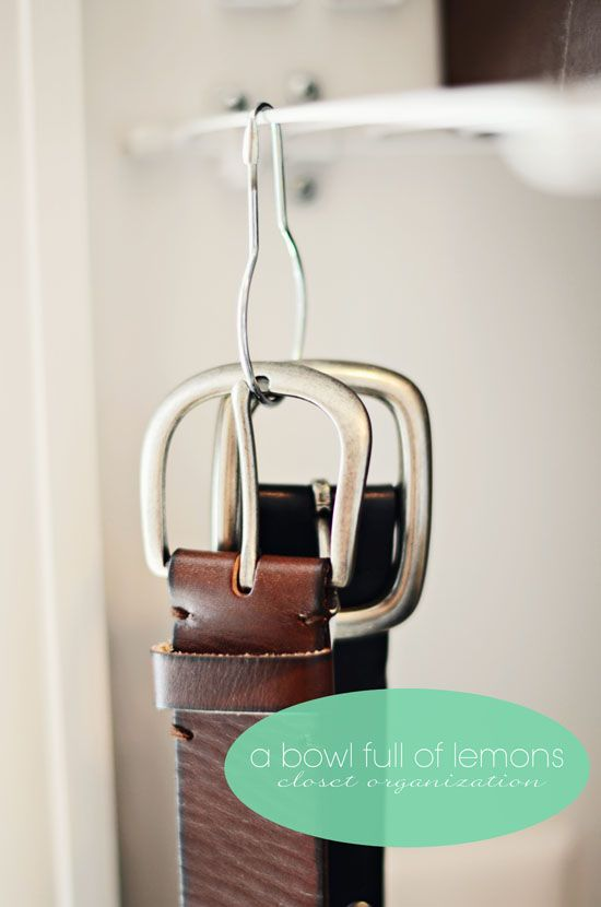 Best 25+ Organizing belts ideas on Pinterest | Hanging ...