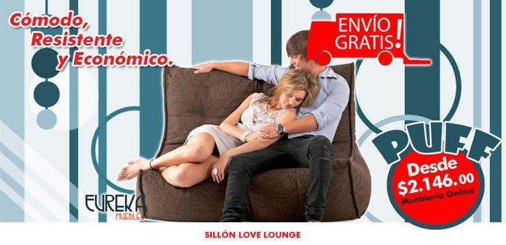 Puffs en http://www.eurekamuebles.com.mx