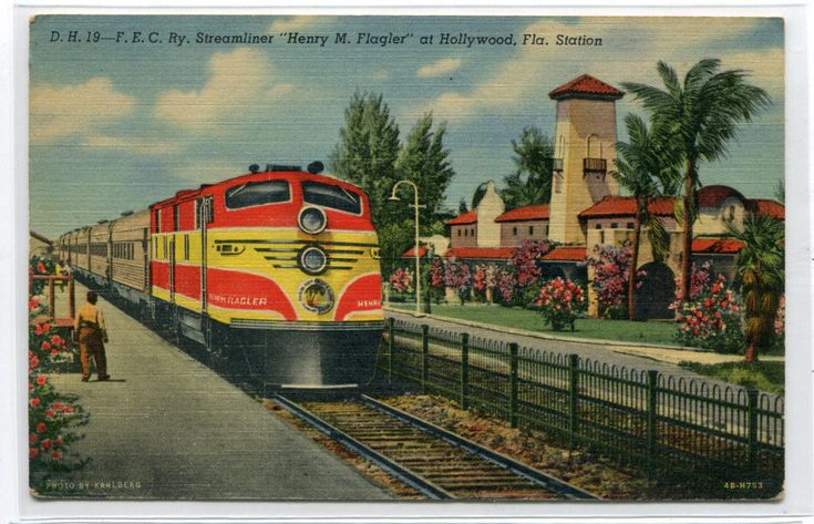 Florida East Coast Railroad Streamliner Train Hollywood