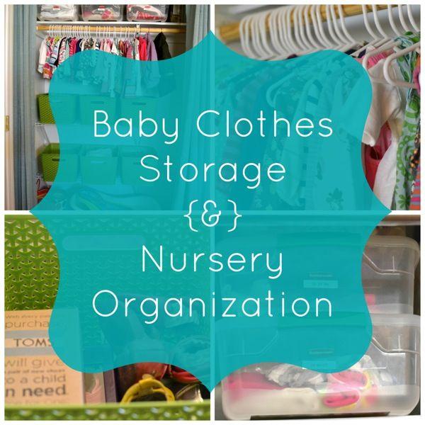 Nursery Closet and Baby Clothes Organization