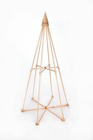 Jubiltree Wooden Tree, made out of solid maple, a modern Christmas tree