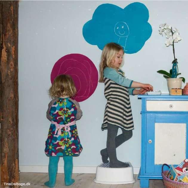 Sjove tavler til kridt til børneværelset. Køb materialer til det i kreahobshop.dk