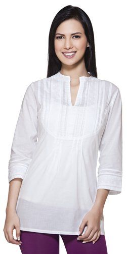 25% Off was $34.99, now is $26.24! Akkriti Womens Indian Ethnic Casual Kurta Tunic with Hakoba Embroidery