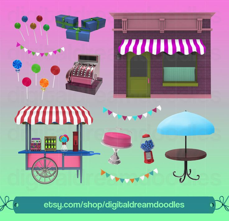 Candy Shop Clipart, Sweet Shop Clip Art, Lollipop PNG Image, Sweet Treat Graphic, Candy Store Scrapbook, Gumball Machine Digital Download by DigitalDreamDoodles on Etsy