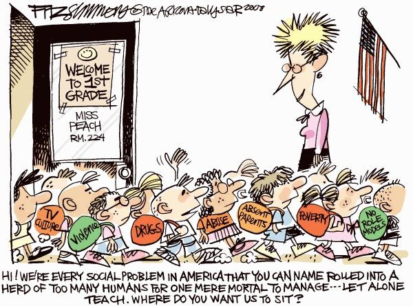 teacher cartoons | to Crist: I Am Tired of Teachers - Peter Stolz's Attack on Teacher ...