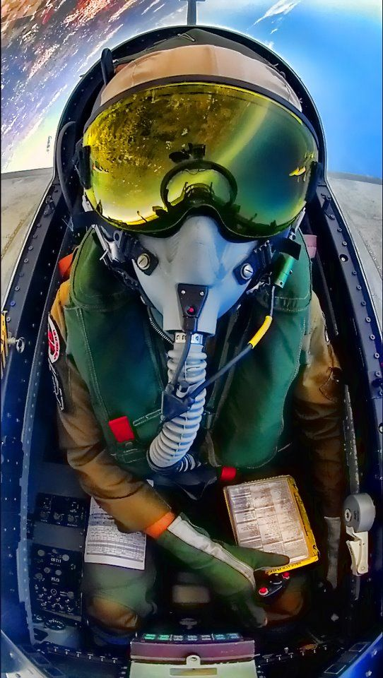 Most original self-portrait I've seen in ages. MB.339CD pilot, Italian Air Force