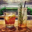Summer peach cocktails at Mudhen Meat and Greens #Dallas  Keep cool with InstantLocal's Beat the Heat curated list, only available on the app!