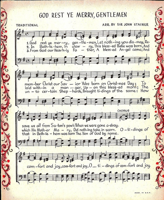 Vintage sheet music image