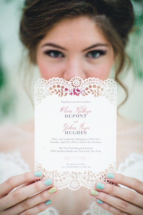Laser cut invites. NIC.ROC. DESIGNS. - photo by http://www.izzyhudgins.com/ More