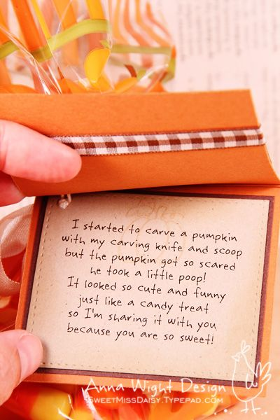 Pumpkin Poop POEM - Anna Wight by SweetMissDaisy - Cards and Paper Crafts at Splitcoaststampers