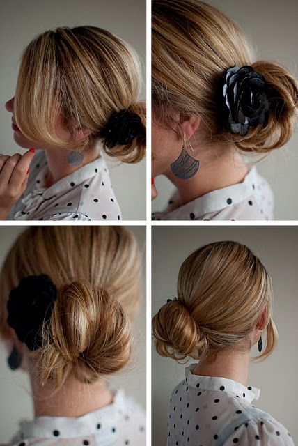 Side Chignon with Corsage