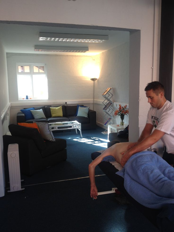 Massage Therapy at work in the NLSSM Annexe room
