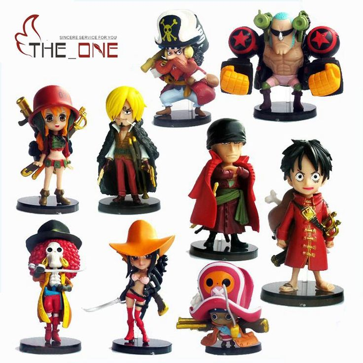 9 Pcs One Piece Luffy Zoro Nami Ace Chopper Shanks Sanji Brook Boa 6-7cm //Price: $27.00 & FREE Shipping //     #onepiece #onepieceanime #dluffystore