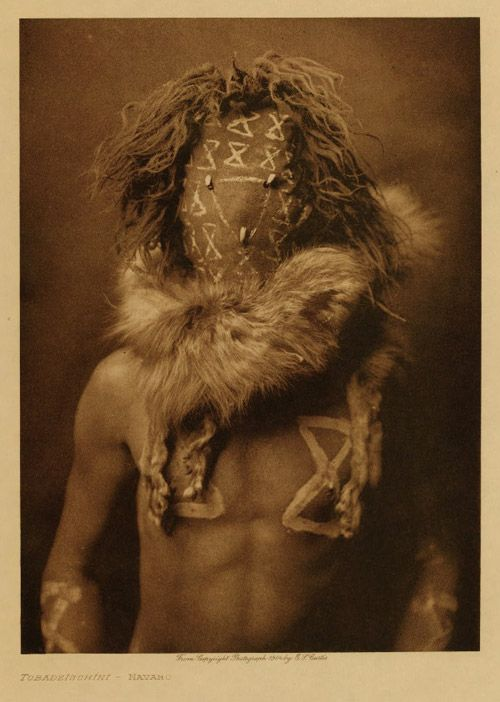 Edward S. Curtis    - Tobadzischini, a Navajo war god known as 'child of the water', c. 1904