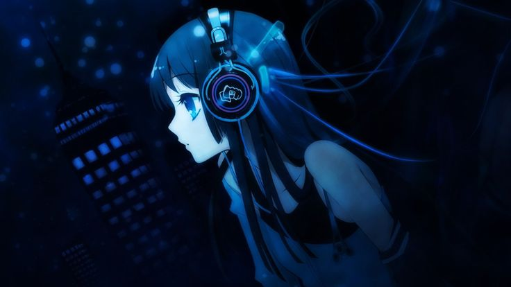 Anime Girl Listening To Music Wallpaper From Anime Manga