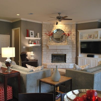 Furniture placement around corner fireplace what i dream of having in my home one day pinterest - App for arranging furniture in a room ...