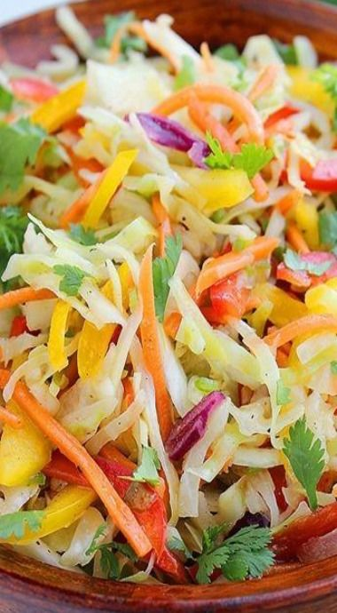 Tex Mex Bell Pepper Slaw   Comfort of Cooking