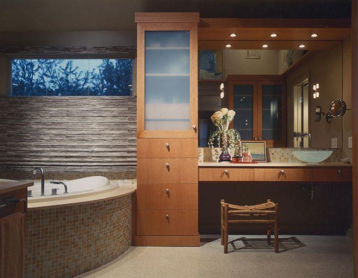 A modern, rich, and elegant bathoom creation of Interior Designer Tere Bresin. http://www.beretdesigngroup.com/ #Interior Design #Interior Designer #Interior Decorating #Home Decor