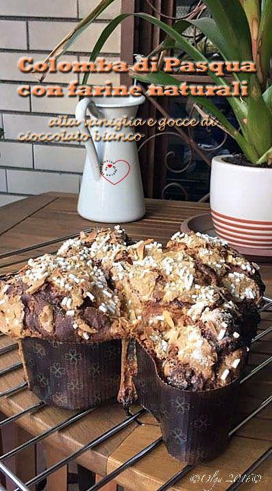 Colomba (a biga) con Farine Naturali alla Vaniglia e Gocce di Cioccolato Bianco |