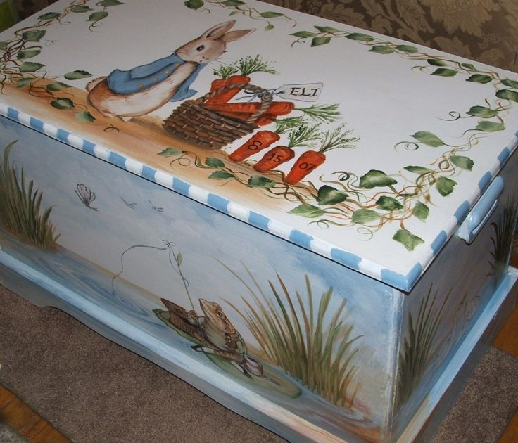 Custom designed Toy Chest inspired by by originalsbybarbmazur, $269.00