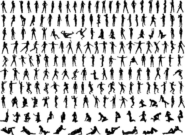 500  Human Silhouettes Vector Art Pack