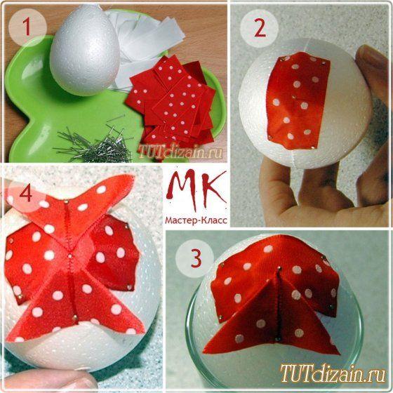 Пасхальные яйца в технике «Артишок»